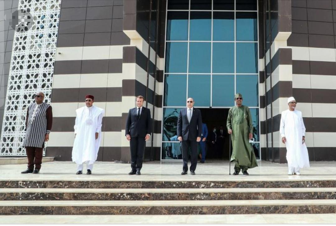 G5 sahel leaders pose at 6th summit, 2020